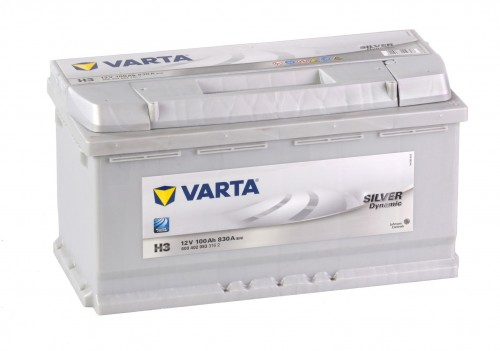 Autobaterie VARTA SILVER Dynamic 12V 100Ah 830A, H3