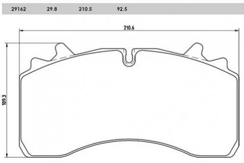 Brzdové desky SAF 210x109