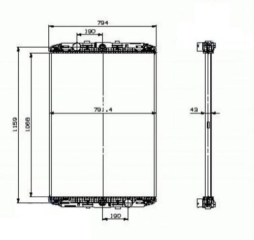 Chladič vody daf XF 95