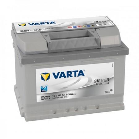 Autobaterie VARTA SILVER Dynamic 12V 61Ah 600A, D21